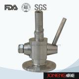 Válvula sanitaria del muestreo de la cerveza del grado del acero inoxidable sin la junta (JN-SPV1001)
