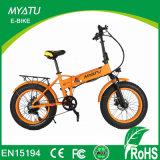 Bicicleta gorda del plegamiento eléctrico de 20 pulgadas con el certificado En15194