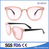 Gafas de sol de la manera de la alta calidad, gafas de sol de encargo al por mayor del color de rosa de la insignia