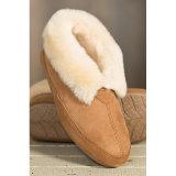 Calçado de couro para homens com pele de pele de carneiro