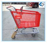 Heißer Verkaufs-Plastiksupermarkt-Einkaufen-Laufkatzen mit Metallrahmen