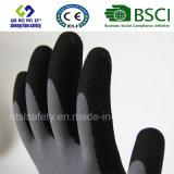 Doublure en nylon de 13 mesures, enduit de nitriles, gants de travail de sûreté de fini de Sandy