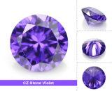 Zircon cubique violet de la CZ de coupure brillante ronde en gros