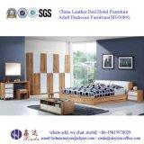 Malaysische Schlafzimmer-Set-Möbel-einzelnes Bett mit Leder (SH-001#)