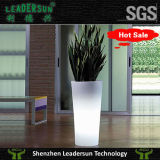 Plantador ao ar livre claro do Flowerpot da decoração do jardim interno do diodo emissor de luz (LDX-F02)