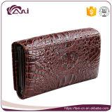 女性のためのFaniの方法札入れ、ワニの皮の本革の女性の札入れの卸売
