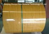 Bobina de acero modificada para requisitos particulares del grano del color de madera de la impresión