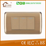 1 placa de parede do aço inoxidável do interruptor da parede do grupo do grupo