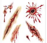 Tatuaje temporal del arte de la etiqueta engomada del tatuaje de la transferencia del agua del tatuaje de la herida