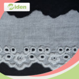 Cordón del bordado del algodón de la tela 2.5 cm del cordón del acoplamiento de los accesorios de la ropa