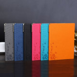 Cuaderno de cuero suave con la cubierta de cuero del cuaderno