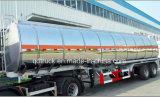 30-50 cbm 디젤 엔진 난방 가열기를 가진 액체 아스팔트 탱크 트레일러