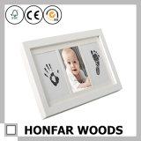 Baby Handprint&Footprint van het Frame van het huis de Decoratieve Houten voor HerdenkingsGift