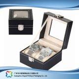 Caja de embalaje de madera/del papel de lujo de la visualización para el regalo de la joyería del reloj (xc-dB-010b)