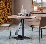 Vector de cena de madera cuadrado del metal de los muebles del restaurante (NK-DTB082)
