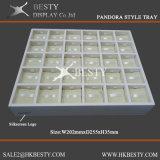 Plateau simple d'étalage de bijou de 30 Componets
