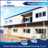 Casa modular moderna prefabricada de la azotea plana de 2 suelos para el campo de trabajos forzados