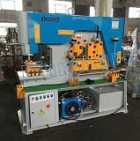 A máquina de perfuração perfurada Mutiple hidráulico do metal de folha de Q35y funciona Ironworker