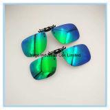 Clip sur des lunettes de soleil avec la lentille polarisée pour les glaces optiques
