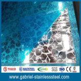 metal de hoja estupendo de acero inoxidable del espejo 201 304