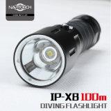 Alta LED torcia elettrica luminosa di immersione subacquea professionale reale