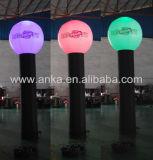 Pilar ligero inflable de las decoraciones LED de la boda