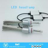 기관자전차를 위한 24months 보장 12V LED 헤드라이트가 또는 자동차 또는 차 최고 조명 효과 7g 4000lm 차에 의하여 LED 점화한다