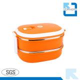 2-laag Lunchbox van het Roestvrij staal & de Container van het Voedsel