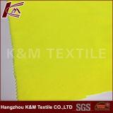 tela de estiramento tingida contínua amarela fluorescente poli de 75D Softshell Machacial