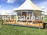 PVCサイドウォールの二重皮の贅沢のサファリの強い構造のテント
