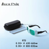 635nm de Beschermende brillen van de Veiligheid van de Laser van de Laser van de Diode en 808nm van de Diode voor de Apparatuur van de Schoonheid van de Laser
