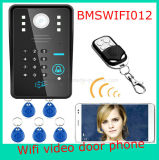 Система безопасности дома внутренной связи пароля дверного звонока RFID телефона двери WiFi видео-