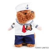 Trajes del perro de la ropa del animal doméstico de Cosplay del marinero del perro del diseño
