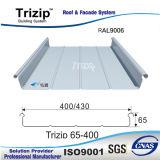 Aluminiumstellung-Naht-Dach-Blatt (Trizip400 weiße aluminium9006)