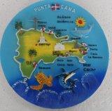Plaques de touristes de souvenir de Polyresin avec l'image de carte pour promotionnel