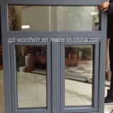 Puder-überzogene hölzerne Farben-doppeltes Glasaluminiumfenster