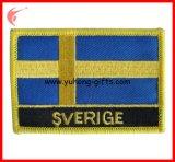 Il disegno del ricamo della bandierina di paese rattoppa la protezione del Velcro (YH-EB141)