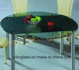 Vetro calcinato reticolo della Tabella pranzante di colore