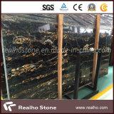 イタリア壁の床タイルのための黒いPortoroの金の大理石