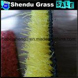 黄色いカラーの低い高さ20mmの草の人工的なカーペット