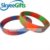 Swirled Debossed Silicone Wristbands for Gift
