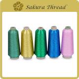 Fibra de poliéster / Nylon / Rayon metálico Sakura para bordado / confecção de malhas / tecelagem