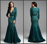 Мантии B42 вечера партии шнурка зеленого платья мати длинние