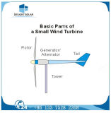 Turbina de viento del eje DC-12V MPPT de la apagado-Red pequeña del regulador horizontal de la carga