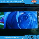 Visualización de LED de interior del alquiler de la etapa a todo color del RGB P2.973