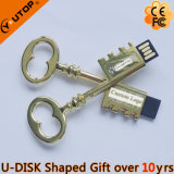 Custom Gift Laser Gravura Logotipo Metal Key USB Stick (YT-3230)