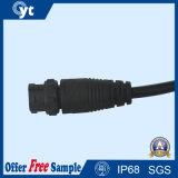 Conetor IP68 impermeável de travamento automático com cabo para a iluminação do diodo emissor de luz