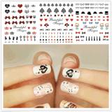 Décoration d'autocollant à ongles temporaire à la mode
