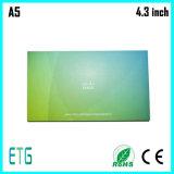 """4.3 """" 7 """" LCD 비디오 카드"""