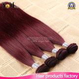 バーガンディのブラジルの毛の束の赤ワインのまっすぐなブラジルの毛のバーガンディの織り方99jブラジルのRemyの人間の毛髪の拡張